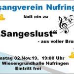 """""""Sangeslust aus voller Brust"""" am 2. November 2019"""