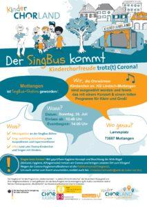 Der SingBus besucht die Ohrwürmer in Mutlangen am 25. Juli