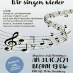 Welcome back: Wir singen wieder! Herzliche Einladung nach Renningen