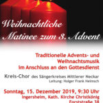 Weihnachtliche Matinee zum 3. Advent