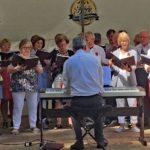 Auftritt des Sängerbundes am Schützenmontag in Biberach