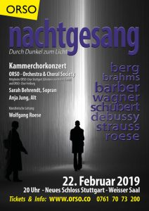 "Glöckner-Chorsänger präsentieren ""Nachtgesang"" in Kammerchorbesetzung"
