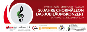 Termin vormerken: Jubiläumskonzert 20 Jahre CHORMÄLEON