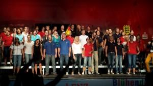 """""""Mir im Süden"""" - die A-cappella-Gruppe füenf zusammen mit dem Projektchor des Chorverbands Enz"""