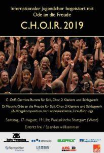 C.H.O.I.R. 2019 am 17. August in Stuttgart