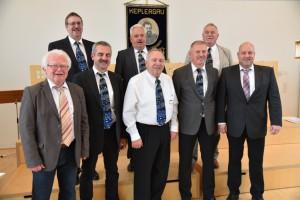 Die Wimsheimer Jubilare zusammen mit ihrem Bürgermeister Weisbrich