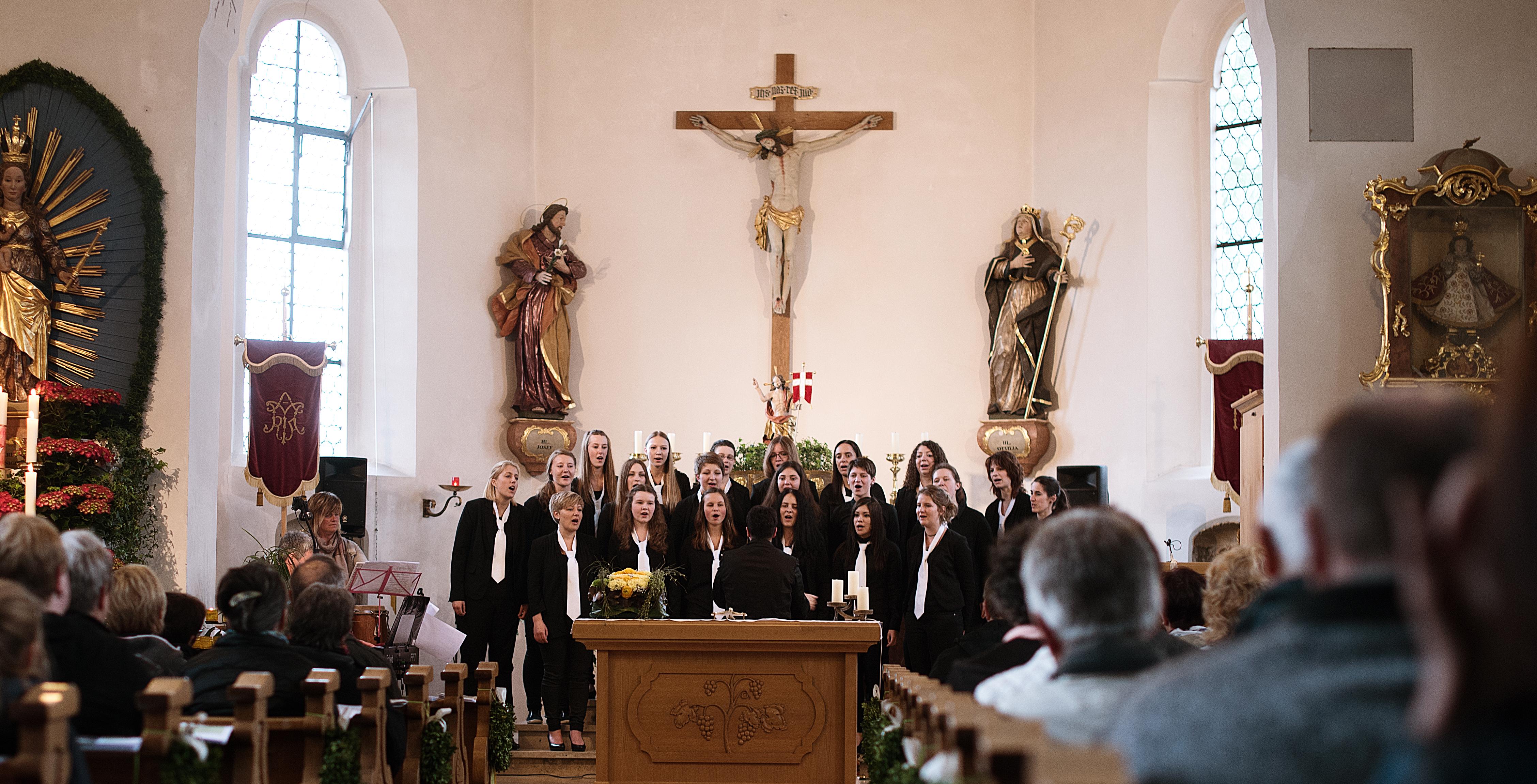 Le Crescentis aus Eberhardzell begeistern beim Kirchenkonzert