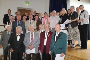 Ehrung für 33 Sängerinnen und Sänger im Bezirk Alb
