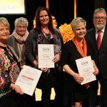 Dreifach Grund zum Jubeln: Chorwerkstatt feiert seine Dirigentinnen Gudrun Fahr, Katrin Werner und Heike Weis