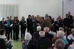 Volkslieder, wie man sie noch nicht gehört hat – und dies zur Ehrung des Präsidenten des Chorverband Karl Pfaff: Udo Goldmann