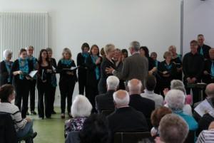 Auch der Chor gratuliert