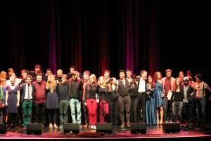 Gemeinsamer Abschluss beim Wettbewerb Scala Vokal 2015