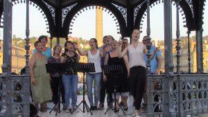 Eine Chorprobe ohne Netz und doppelten Boden beim Sängerbund Zaisersweiher