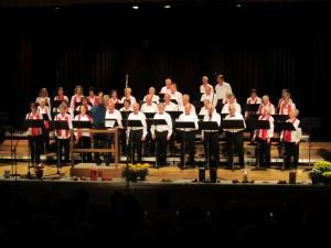 Liedertafel Ehingen mit zusätzlichen Männerstimmen vom Gesangverein Hausen