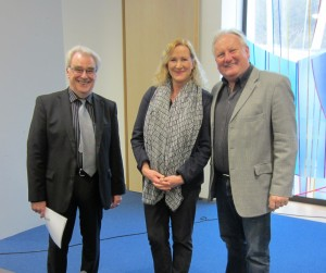 v.l.n.r. Präsident Wolfgang Oberndorfer,  Sabine Layer,  Wolfgang Layer