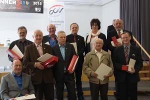 1. Reihe: Alfons Jäck, Volker Ohlberg, Josef Rauch, Heinz Schlaich, Matthias Wolf 2. Reihe: Bruno Geiger, Otto Gropper, Uli Herkle, Marianne Braunmüller, Ernst Schädle