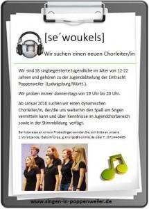Jugend-Chorleiter gesucht nach Poppenweiler/Ludwigsburg