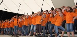 Konzert der Chorwerkstatt-Jugend auf der Landesgartenschau