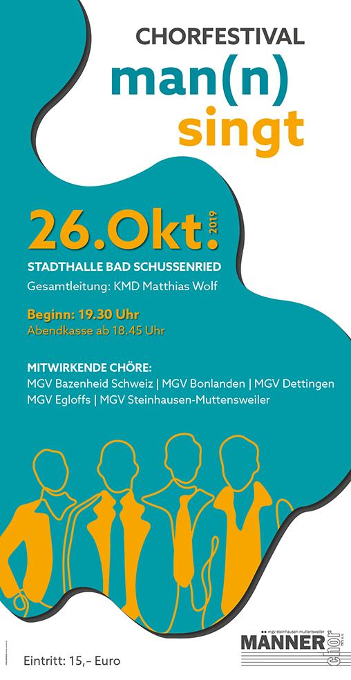 """Männerchor-Festival """"Man(n) singt"""" steigt in der Stadthalle Bad Schussenried"""