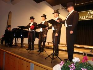 Die Belcanto Harmonists sorgten für einen musikalischen und komödiantischen Höhepunkt des Abends