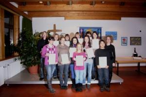 Jugendliche der Sängerlust Wittershausen