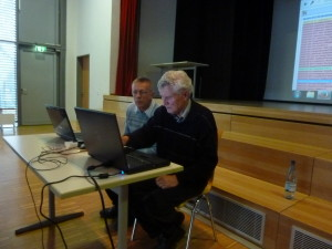 Prof. Anton Frick mit Vorstand Reinhard Kaller (SB Merklingen) bei der UGA-Schulung.