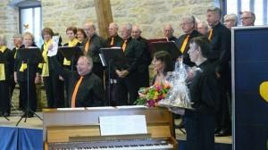 Frohsinn Kirchberg mit Anton Klotzbücher, Claudia Keefer und Harald Sigle (Klavier)