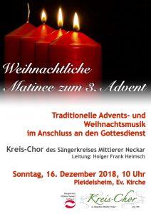 Weihnachtliche Matinée zum 3. Advent mit dem Kreis-Chor