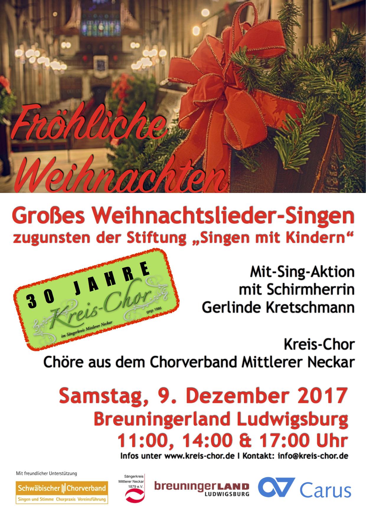 Weihnachtslieder Zum Singen.Großes Weihnachtslieder Singen Kreis Chor Organisiert Mit Sing