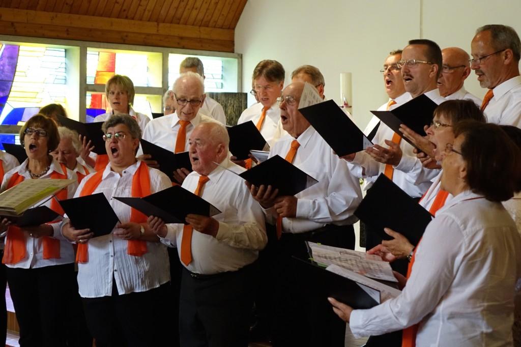 Einer von acht Chören war der gastgebende Gesangverein Rechenberg