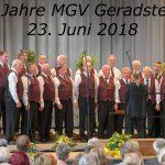 Großartiges Festkonzert des MGV Geradstetten