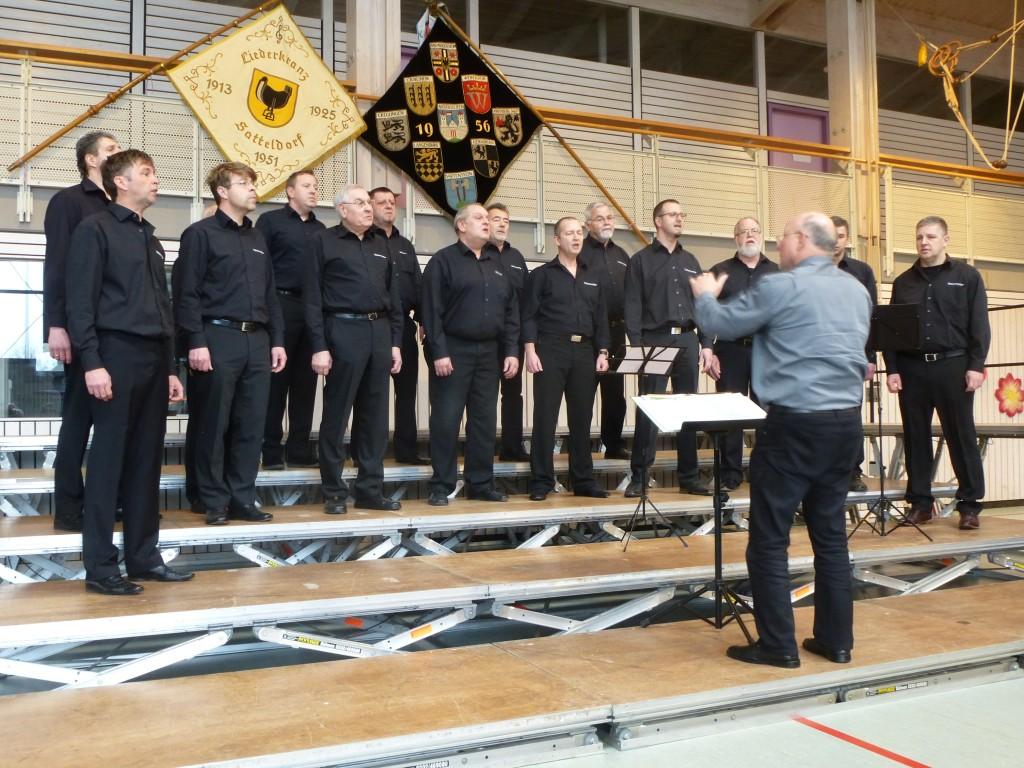 Die Vielharmoniker aus Crailsheim-Altenmünster mit Dirigent Arnulf Brenner