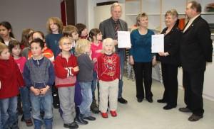 Urkunde zur Kooperation Schule-Verein