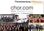 Vocals On Air präsentiert Themensendung zur chor.com 2017 in Dortmund