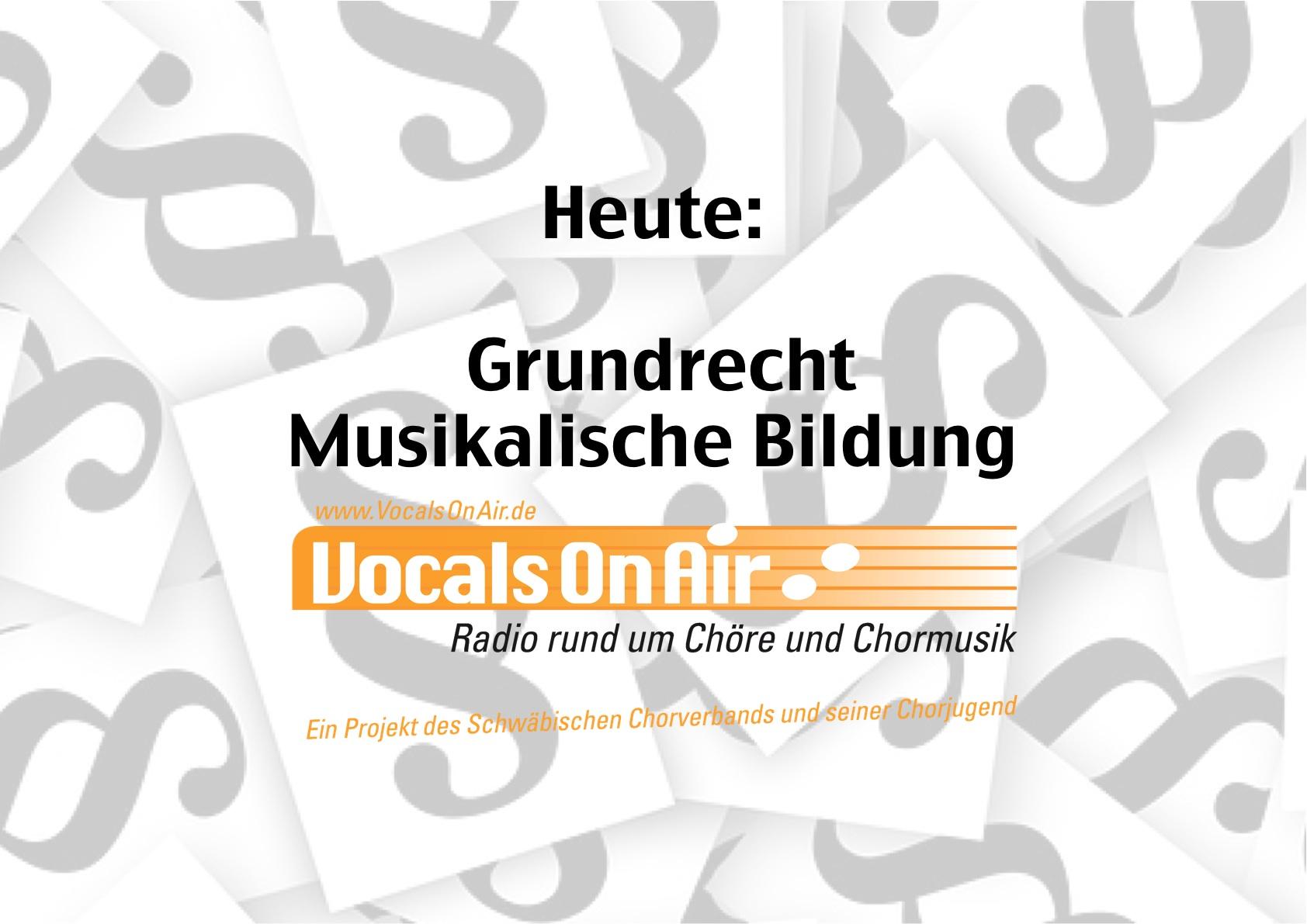 Vocals on Air beschäftigt sich mit dem Grundrecht musikalischer Bildung