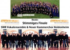 oben: Neuer Kammerchor Heidenheim unten: SWR Vokalensemble Stuttgart