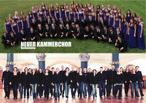 oben: Neuer Kammerchor Heidenheim unten: SWR Vokalensemble