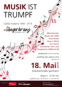 Jubiläumsabend des Sängerkranz Igersheim am 18. Mai