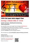 """Neuer CVFS-""""Ich kann nicht singen""""-Chor…für Nicht- und Noch-nicht-Sänger"""